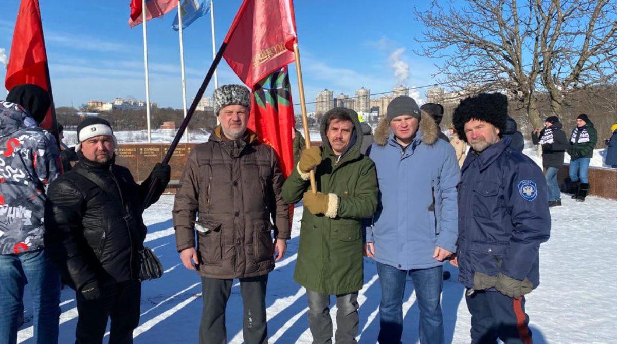 Раменские казаки посетили митинг, посвященный Дню защитника Отечества