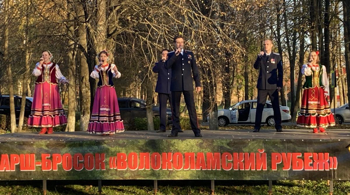 Артисты ЦКК «Вольная станица» выступили на Марше Кремлёвских Курсантов